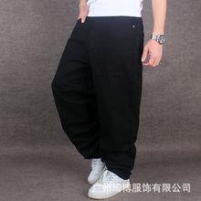Американский свободный жан бегун мешковатые Черные джинсы для мужчин Рэппер Рэп Джинсы Для Мальчика Скейтборд Расслабленной Джинсы Улица Прилив Штаны