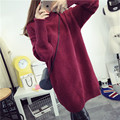 Spot 2016 Winter Maternity Sweater Pregnant Women Large Size Coat Women Loose Warm High Collar Long Section Clothes