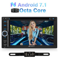 Wholesale! 2 Din Android 7.1 Universal Car DVD Player 6.2 Inch GPS Navigation Bluetooth Car Stereo Qcta-Core radio Wifi Headunit