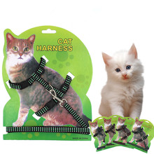 Cat-Harness HALTER-COLLAR Belt Leash Nylon-Products Pet Animals Adjustable Kitten And