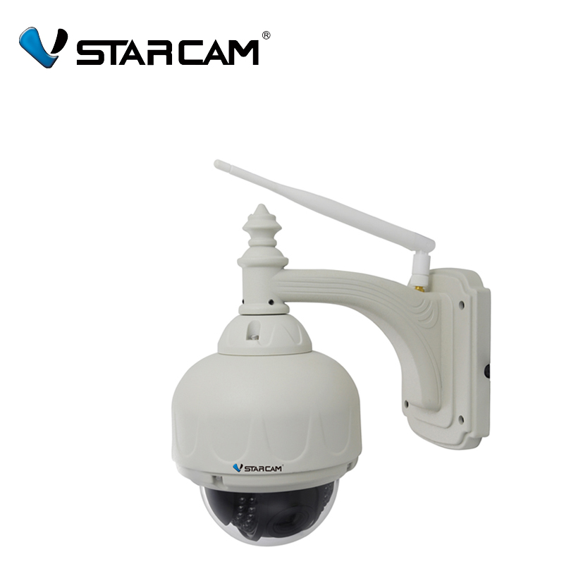 Vstarcam C7833WIP-X4 Outdoor ONVIF PTZ 4X Zoom P2P Plug and Play Pan/Tilt Wireless/WiFi HD 720P IP Dome Camera Micro SD Card indoor wireless ptz dome ip camera full hd 1080p 2 0mp with pan tilt zoom 2 8 12mm 4x zoom tf micro sd card slot low lux onvif