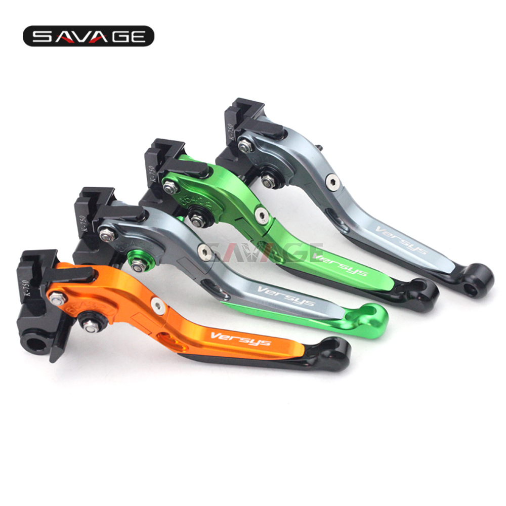 Folding Extendable Brake Clutch Lever Levers For KAWASAKI KLE 650 1000 Versys KLE650 KLE1000 Versys1000 2015