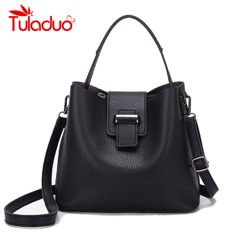 Fashion Women Bags Bucket Casual Tote Shoulder Bags Luxury Designer Female Haspe Handbag PU Leather Ladies Messenger Bag Sac luxury genuine leather bag fashion brand designer women handbag cowhide leather shoulder composite bag casual totes