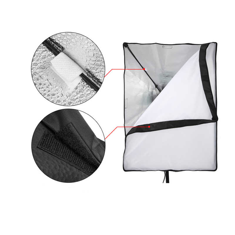 50*70CM Photography Studio Wired Softbox Lamp Holder with E27 Socket for Studio Continuous Lighting Fotografie Accessoires