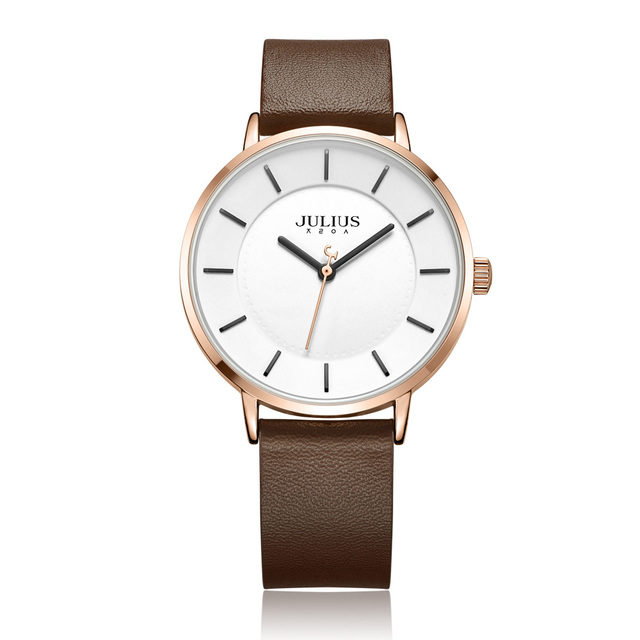 Casual Watch With Genuine Leather Strap