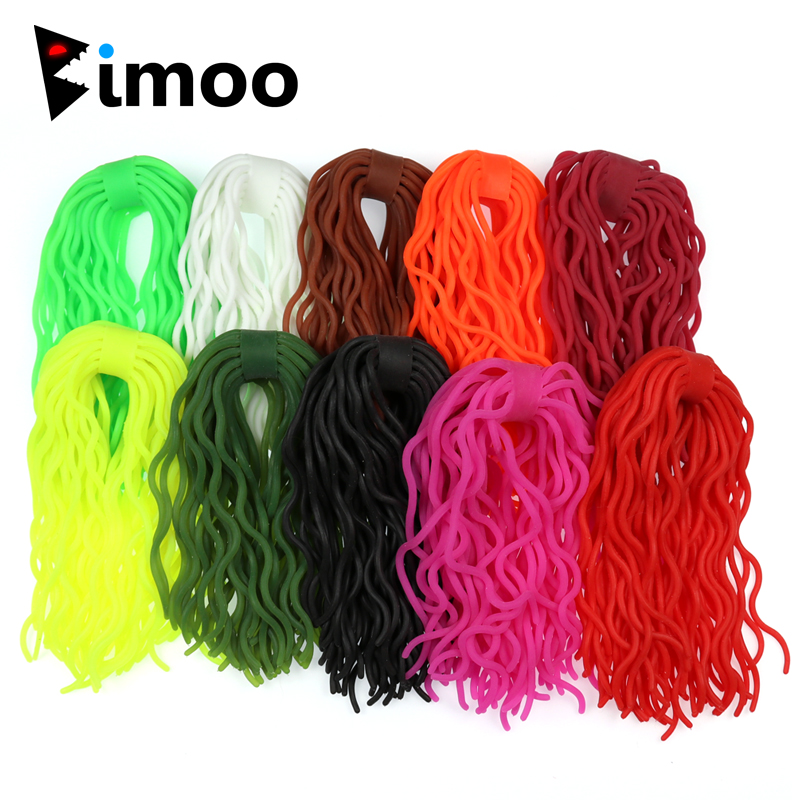 Bimoo 60 legs/ piece Soft Worm Trout Fly Fishing Flies Squirmy Wormy Fly Tying Material Fishing Lures mnft 10pcs 6 black attractor worm woolly bugger green flies fly fishing trout fishing streamer