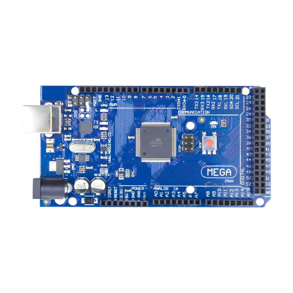 Płyta Mega 2560 R3 2012 wersja oficjalna z układem ATMega 2560 ATMega16U2 dla zintegrowanego sterownika Arduino z oryginalnym opakowanie detaliczne 2