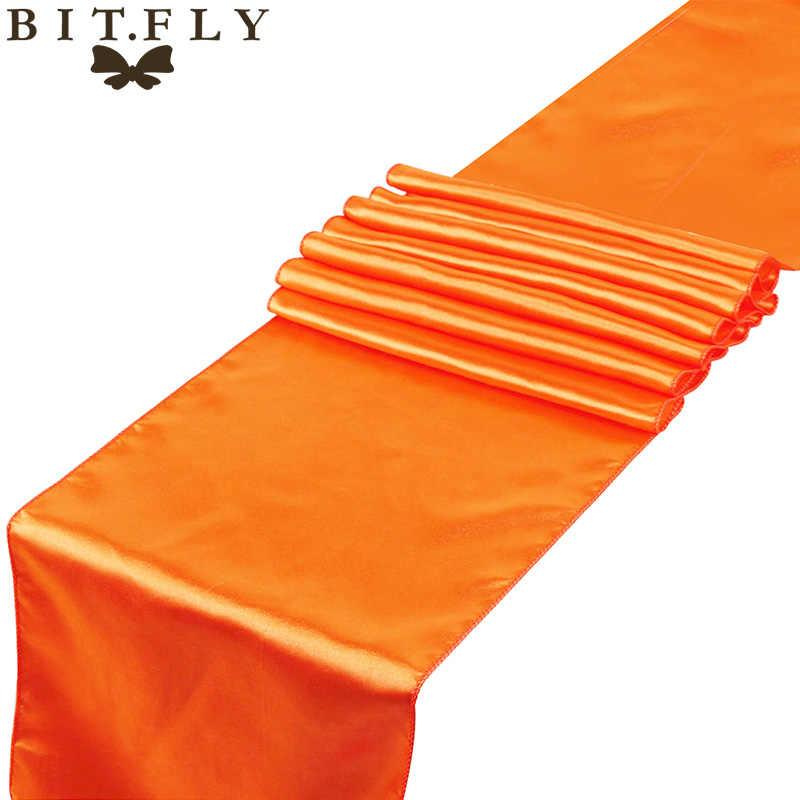 Miễn phí vận chuyển 30 cm X 275 cm 10 cái Satin Bảng Runner Trang Trí Đám Cưới 22 màu sắc Nhà vận Động Viên Chạy Bàn Phụ Kiện ở Mức Giá Tốt Nhất