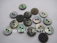 10.16mm 16L shell buttons for apparel balck shell 2 holes fashion shirt buttons 200pcs