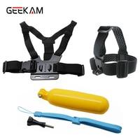 GEEKAM 5 Head Strap Chest Strap Accessories Set For Soocoo Eken Xiaomi Yi Gopro SJCAM SJ4000