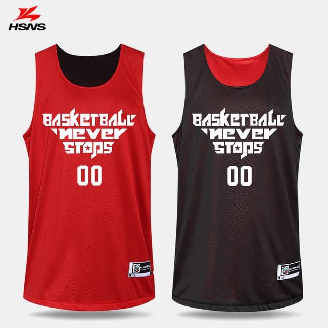 1de905762 Reversible Jersey   Shorts 2PCS Basketball New Set Sportswear Men Clothes  Boy Train Double Sides Custom LOGO Name Team Uniforms