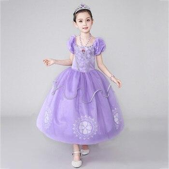 5ca7e863f8c9a2a Платье принцессы Софии для девочек детский летний костюм с цветочной ...