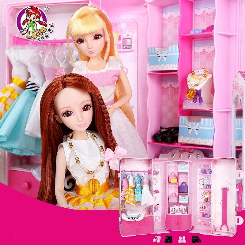 echt lelia meisjes poppen mode pop ster garderobe geschenkdoos kawaii simulatie pop diy speelgoed fantasiespel speelgoed voor kinderen kids in echt lelia - Fantastisch Diy Garderobe
