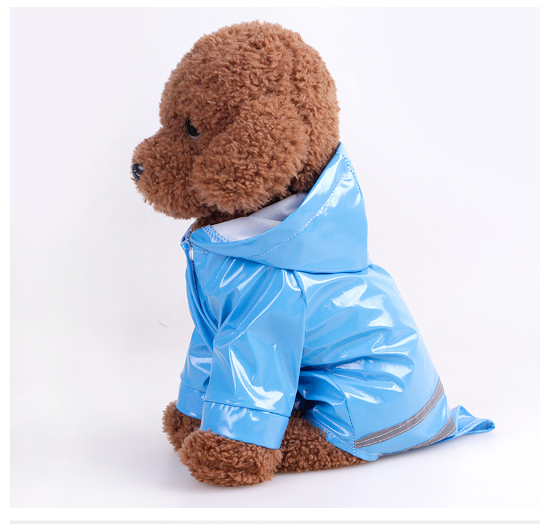 Puppy Pet Rain Coat Summer Outdoor S XL Hoody Waterproof Windbreak Jackets PU Raincoat for Dogs Cats Apparel Clothes in Dog Raincoats from Home Garden