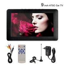 цена на 9'' HD TV ATSC Portable Television TFT LED HDMI VGA Digital Analog for Car Home