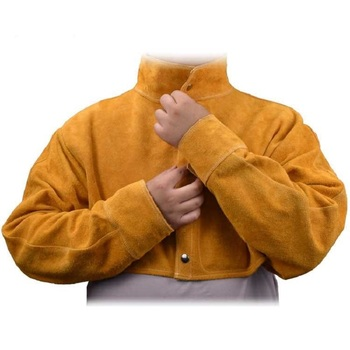 цена на Protective Apparel Flame Retardant Safety Clothing Protective Welding Work Cowskin Leather Welding Clothing for Welders