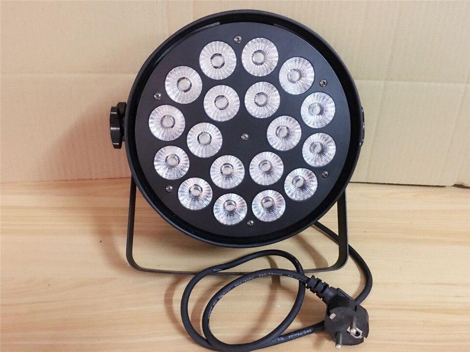 4pcs18x12W + Flight case luce par del led RGBW 4in1 Led Par Luce DMX Stage Lights