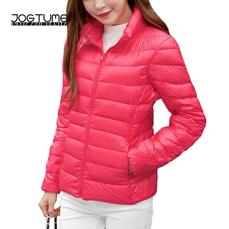 JOGTUME Plus Size 4XL 5XL 6XL Warm Jackets 2017 Autumn Womens Duck Down Fashion Coat Long