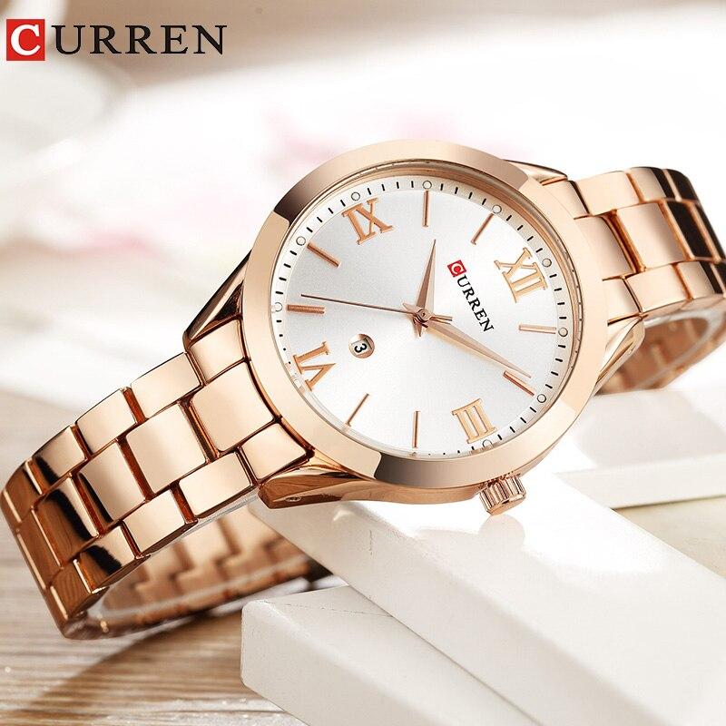 CURREN Wrist Watches For Women Luxury Rose Gold Women Watches Quartz Ladies Watch Fashion Women Female Hour New Relogio Feminino