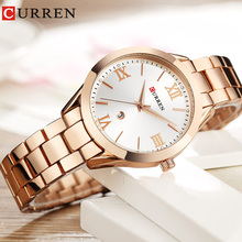 CURREN Wrist Watches For Women Luxury Rose Gold Quartz Ladies Watch Fashion Female Hour New Relogio Feminino
