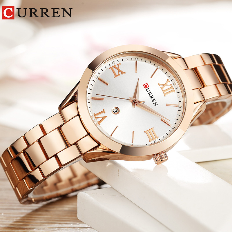 Women Watches luxury Rose Gold Quartz Ladies watch relogio feminino Fashion Curren Brand Women Clock Wrist Watches for women New
