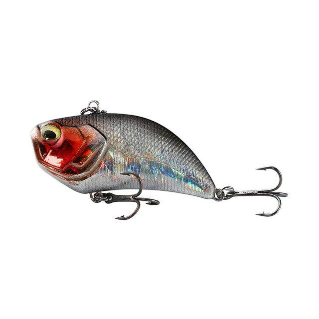 1 sztuk VIB Lure 12g 5.2cm wibracje twarda przynęta 3D oczy ABS plastikowe wędkarskiego Wobblers Noisy Rattle Isca sztuczne Pesca