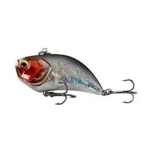 Leurre de pêche rigide vibrant en plastique ABS avec yeux 3D, matériel de pêche, Wobblers, avec hochet bruyant, 12g, 5.2cm, 1 pièce