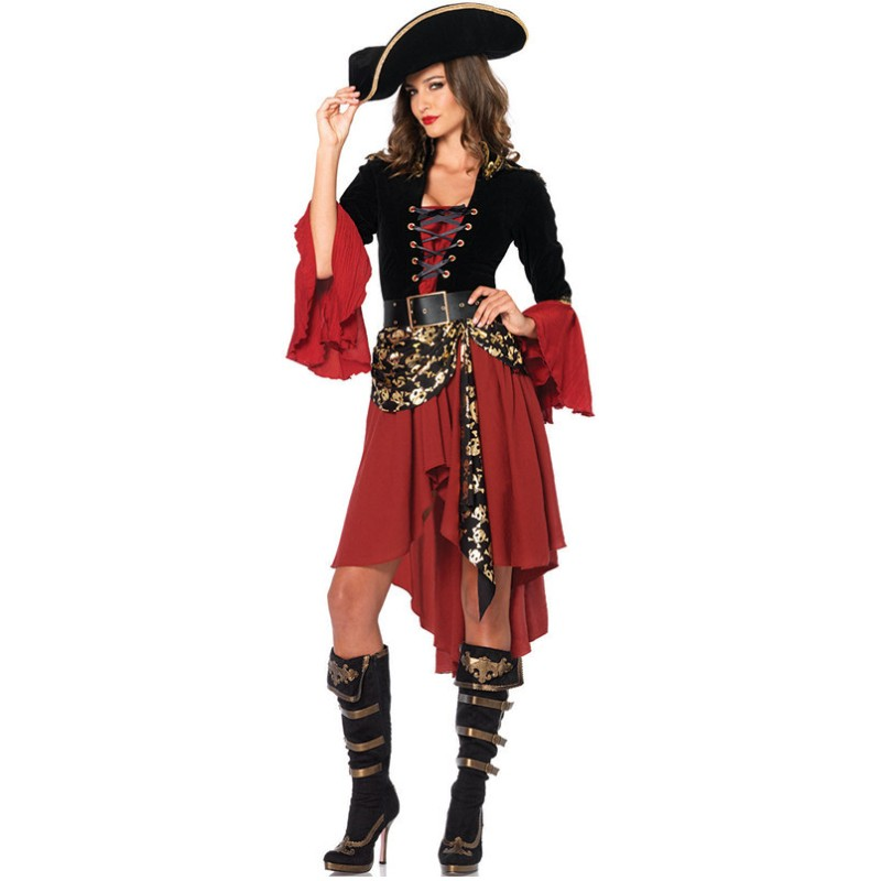 Pirate Costume Women Adult Halloween Carnival Sexy Party Cosplay Costumes Fantasia Fancy Dress Caribbean Pirates Uniforms Outfit