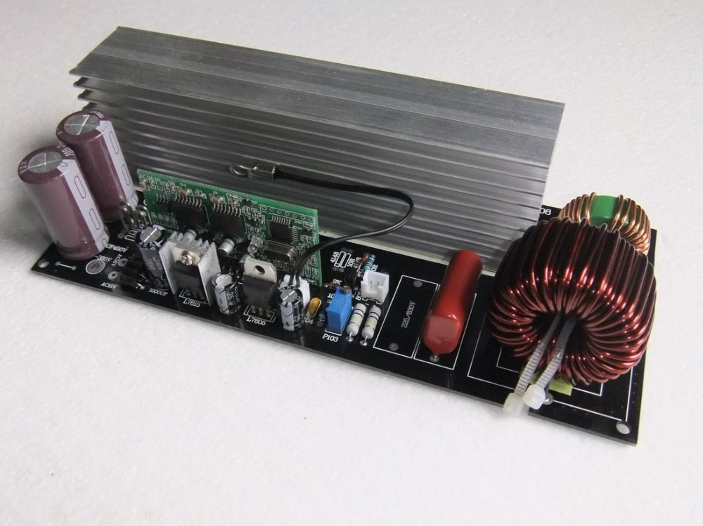 <font><b>3000W</b></font> Pure Sine Wave <font><b>Inverter</b></font> Power <font><b>Board</b></font> Post Sinewave Amplifier finished <font><b>board</b></font> with heatsink image
