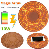 Fast Charger Magic Array Wireless Charging Pad Quick charger 10W For iPhone 8 Plus X Samsung galaxy S8 Note 9 with Box Universal