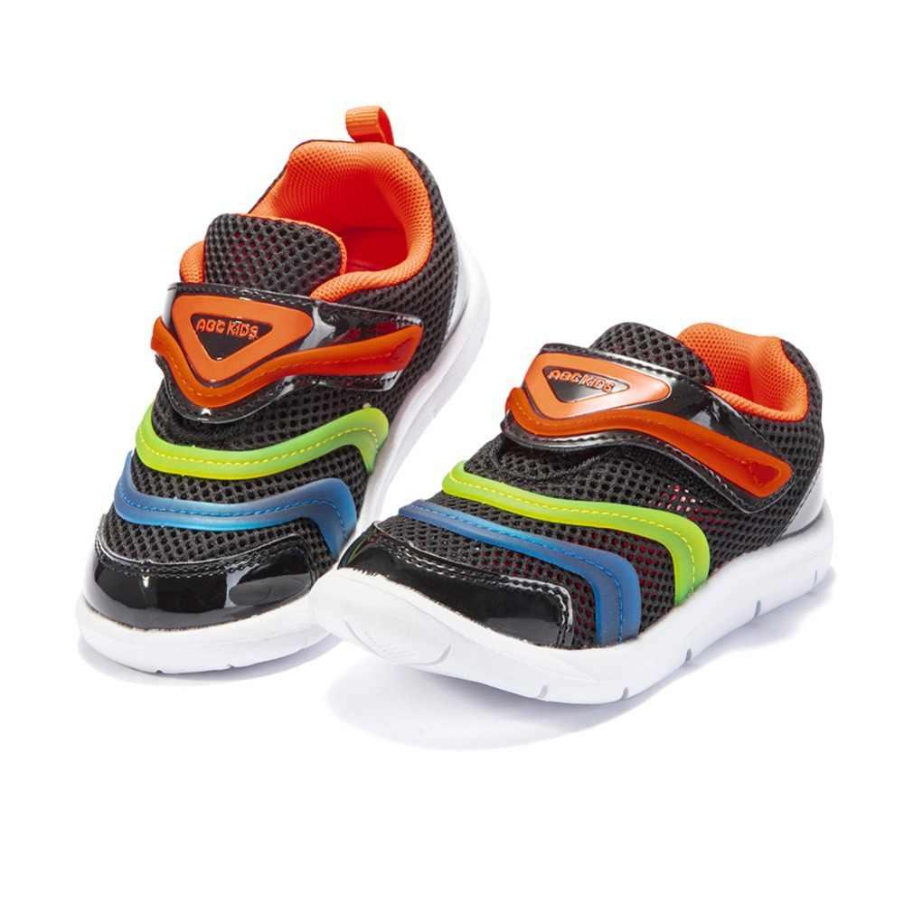 Abckids 2-4 T วิ่งกลางแจ้งกีฬารองเท้ารองเท้าเด็กลายออกแบบตาข่าย Breathable รองเท้าผ้าใบ Unisex