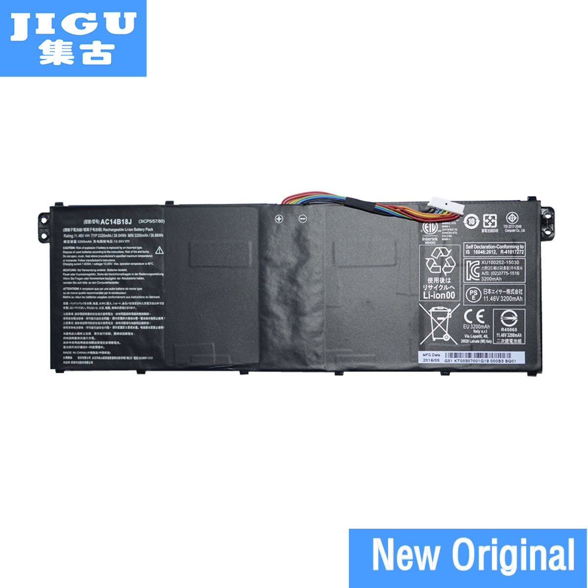цена на JIGU Original Laptop Battery AC14B18J FOR ACER Aspire E3-111 E5-731 E5-771G ES1-511 ES1-711 R13 R3-131T R5-471T R7-372T
