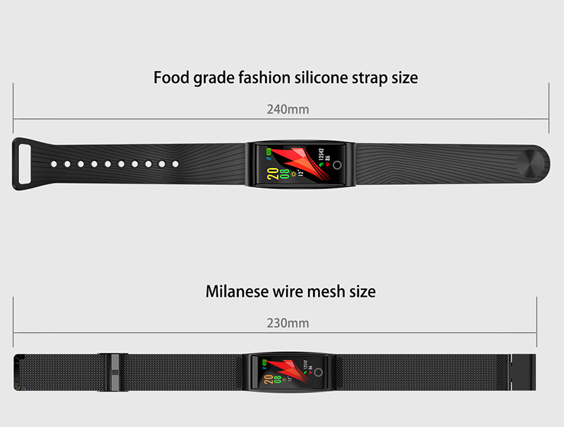 Foto of strap Smart waterproof watch with pedometer. Smart waterproof watch with heart rate monitor