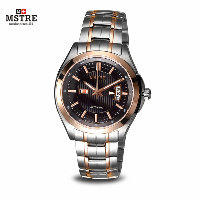 Brand Classic Men's Business Watch Auto Mechanical Self-wind Move Sapphire Crystal Skeleton Wristwatches Waterproof clocks male brand mstre fashion classic watch men s business casual auto self wind wristwatches tourbillon day date calendar waterproof 100m