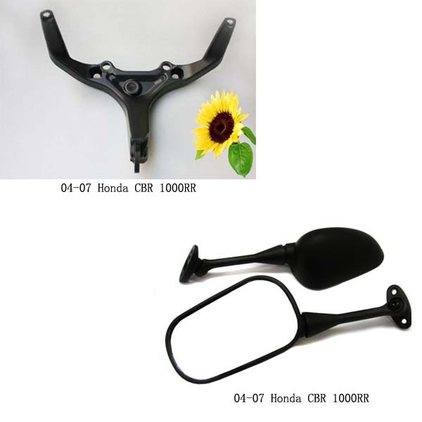 Aftermarket free shipping motorcycle parts Rear Mirror upper fairing stay Brackets for 2004 2005 2006 2007 Honda CBR 1000RR