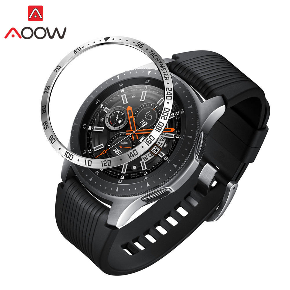 Bezel Ring Styling For Samsung Galaxy Watch 46mm Adhesive Cover Anti Scratch Stainless Steel Protection Accessories For Gear S3