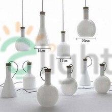 Магия Бутылки Led Подвесной Светильник Европейский Рука Выдувное Молочно-Белый Стеклянные Подвесные Светильники