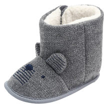Winter Newborn Baby Boys Girls Infant Knitted Shoes Solid Snow Boots Warm Crib Shoes Soft Sole Prewalker 2018 New Arrival(China)