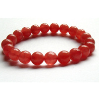 Discount Wholesale Genuine Natural Red Rhodochrosite Stretch Finished Bracelet Round beads 9mm Jewelry Beads 01865