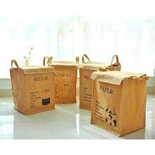 Корзина для белья из хлопка и льна, водонепроницаемая Складная тканевая сумка, коробка для хранения, органайзер для грязной одежды, льняные корзины
