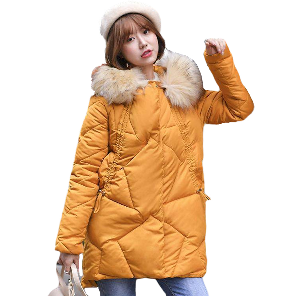 Parka   winter down jacket female heavy hair get long big yards warm coat of cultivate morality down long   parka   women 913