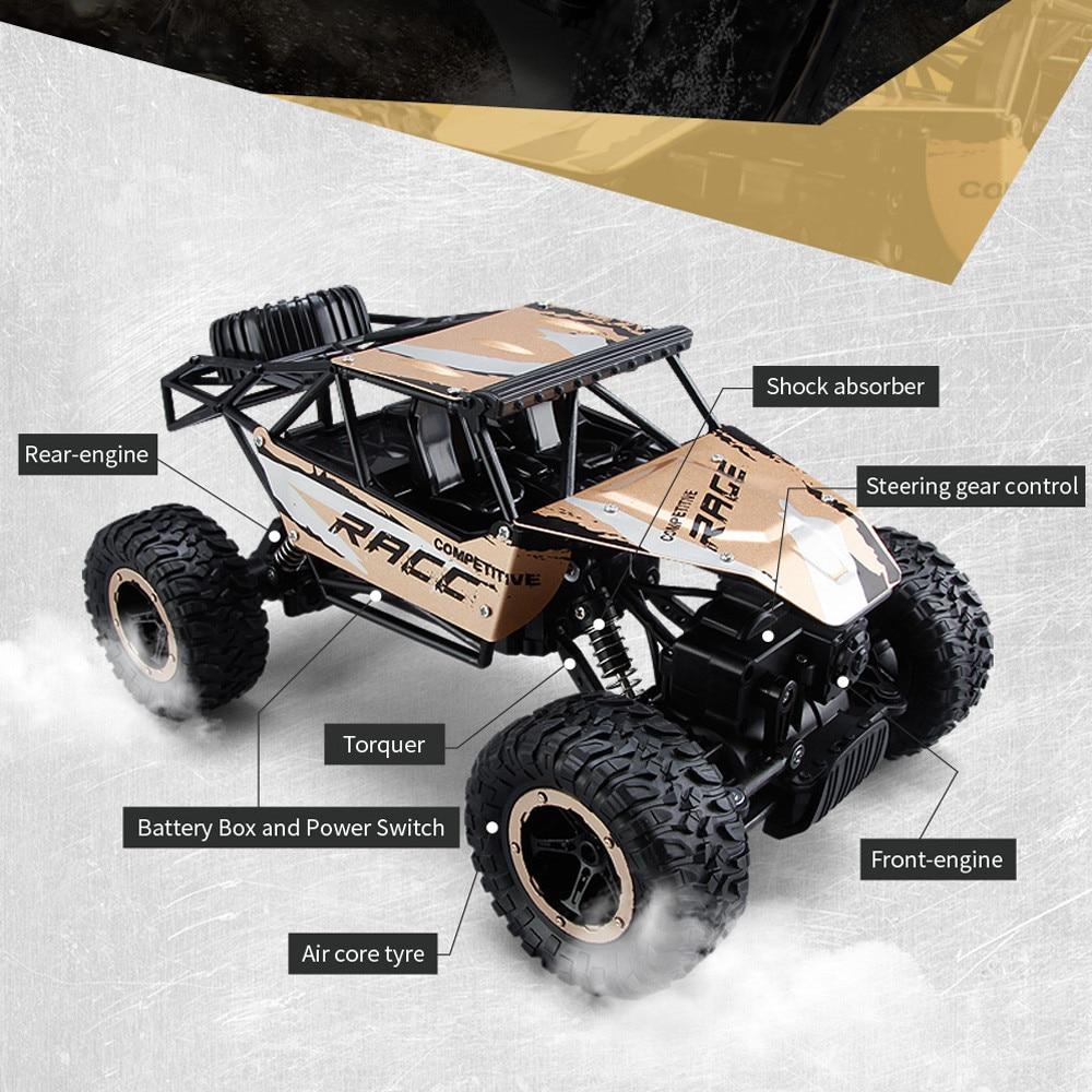 2017 Nieuwe Elektrische Auto 1 14 Rc Speelgoed 2 4 Ghz Rock Crawler 4 Wheel Drive Radio Afstandsbediening Hobby Modelismo Rc Radio Modellen In 2017