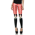New Arrival 1447 Sexy Girl Cartoon Polka Dot mouse Micky Rat Printed Elastic Fitness Polyester Workout Women Leggings Pants