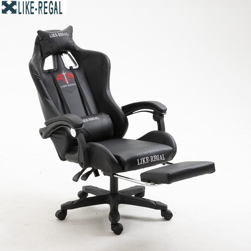 Image 2 - LIKE REGAL New arrival racing Synthetic leather game WCG chair Inter-in Office Chairs from Furniture
