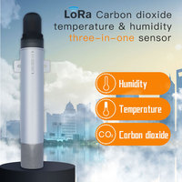 High CO2 Concentration Detection Wireless carbon dioxide logger LoRa CO2 Temperature Humidity Transmitter 470/433/868/915mhz