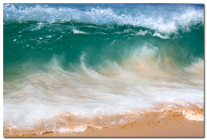 Nicoleshenting Tropical Beach Ocean Sea Waves Art Silk