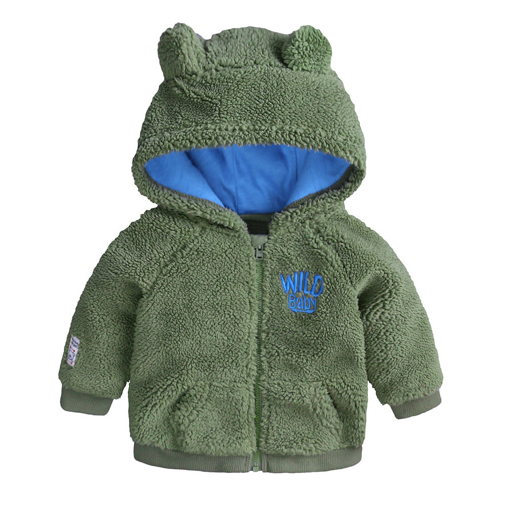 f1b6d350b Free Shipping Warm Newborn Baby Boys Girl Cotton Cartoon Ear Hooded ...
