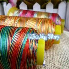 Европейское качество, 3 разных цвета, вязание крючком/кружево/плетение пряжи 150D/3(Размер 30) полиэфирная нить для шитья