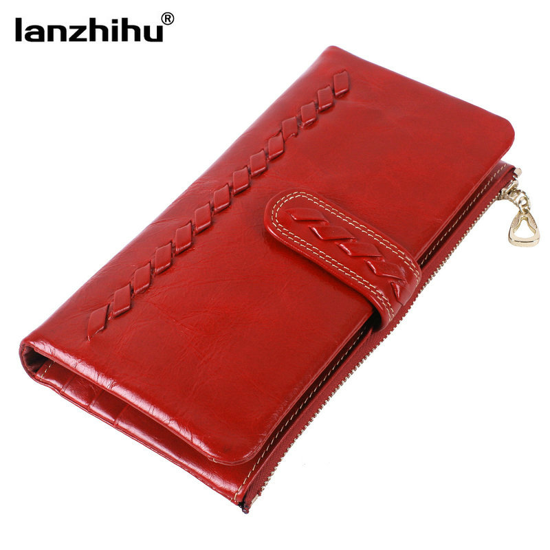 Handmade Weave 100% Real Leather Female Purses Credit Cards 11 Money Bag Fashion Soft Women Wallets Genuine Leather Coins 2016 100% wax oil cowhide vintage wallets female money clips real leather clutch wallet for women credit cards change purses 2014 new