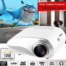 Película HD 1080 P AV HDMI Inicio Cine Teatro Multimedia LED Proyector proyector proyector hdmi usb Blanco de LA UE APE